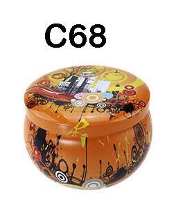 294068 Банка Город C68  h=5см, d=7,7см, 150мл, жесть желтый
