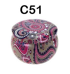 294051 Банка Орнамент C51  h=5см, d=7,7см, 150мл, жесть серый