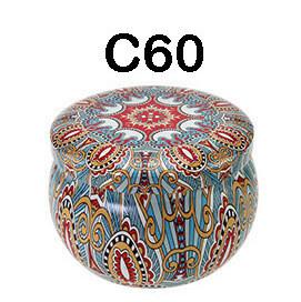 294060 Банка Орнамент C60  h=5см, d=7,7см, 150мл, жесть