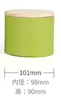 269019 Банка, картон+дерево, зеленый 10х10 см