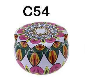 294054 Банка Орнамент C54  h=5см, d=7,7см, 150мл, жесть белый