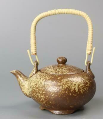 """278117.2 Чайник """"Каменная печь"""" 350мл, H=9см, D=14см, керамика коричневый"""