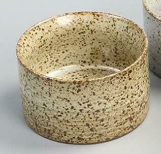 """278072.1  Пиала """"Каменная печь"""" h=43,8см, d=6,5см, 70 мл, керамика бежевый"""