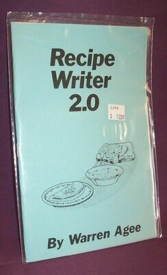 Recipe Writer 2.0