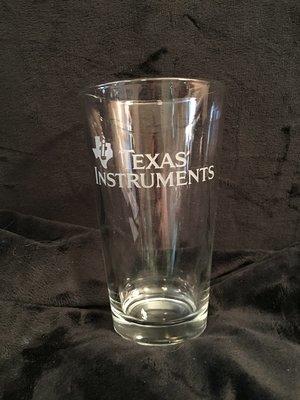 Texas Instruments logo pint glass