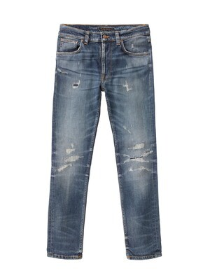 JEAN NUDIE LEAN DEAN Beaten Indigo