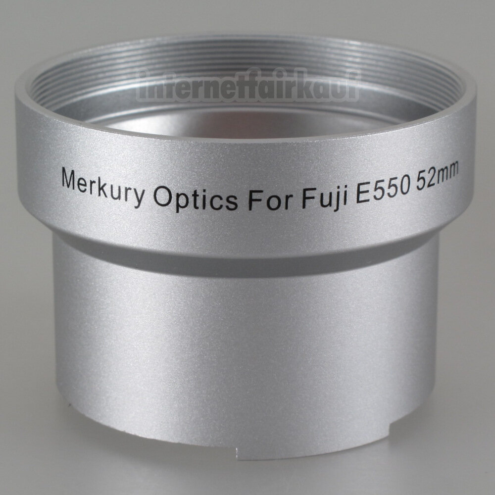 Adapter Tubus für Fuji Finepix E550 E900, 52mm
