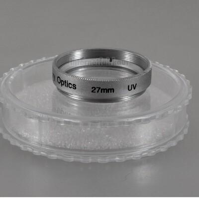 UV Ultraviolett Filter 27mm silber