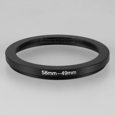 58-49mm Adapterring Filteradapter
