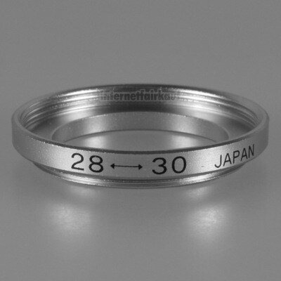 28-30mm Adapterring Filteradapter silber