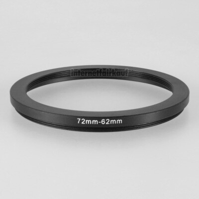 72-62mm Adapterring Filteradapter