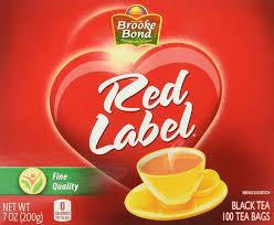TEA RED LABEL 100 BAG 7OZ