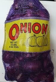 ONION RED MED10 LB BAG