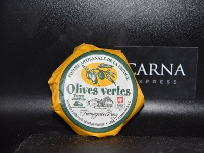 Tomme artisanale aux olives vertes