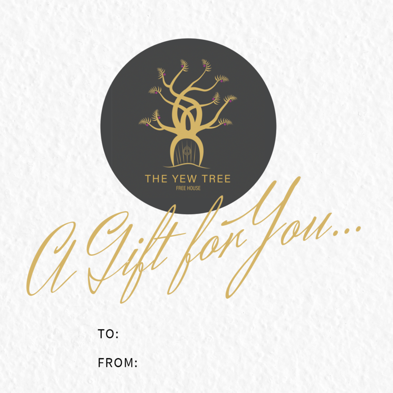 YEW TREE GIFT VOUCHERS - £10/£25/£50