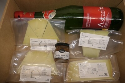 Pack quesos vascos con sidra / Euskal gazta kaxa sagardoarekin