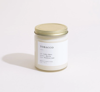 Brooklyn Candle Studio Tobacco Minimalist Candle