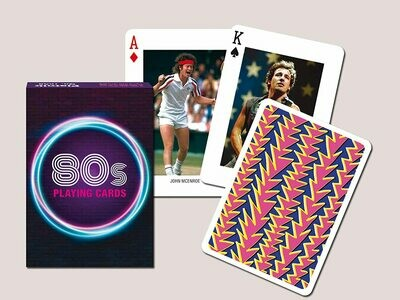 The 1980's Playing Card