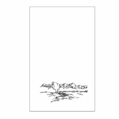 Mountain Goat Tea Towel