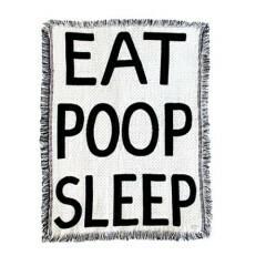 Eat Poop Sleep Mini Throw Blanket