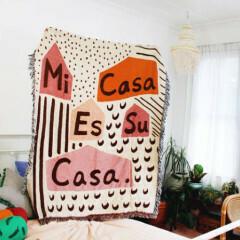 Mi Casa Es Su Casa Blanket Throw - Colored