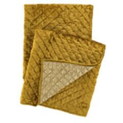 Patina Velvet Gold Throw
