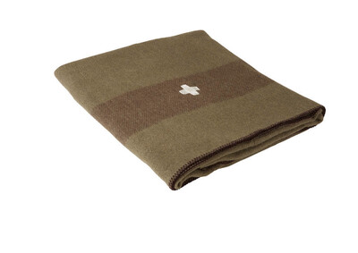 Swiss Army Wool Blanket - Green
