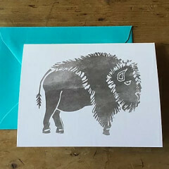Greeting Card - Bison
