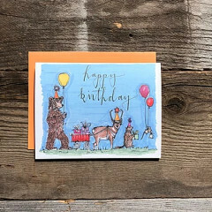 Greeting Card - Foil bison