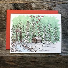 Greeting Card - Cozy Cabin