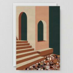 Terracotta Terrazzo & Stairs Card