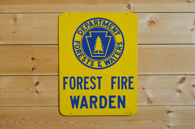 Forest Fire Warden Sign - 1960s