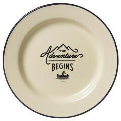 Adventure Begins Enamel Plate