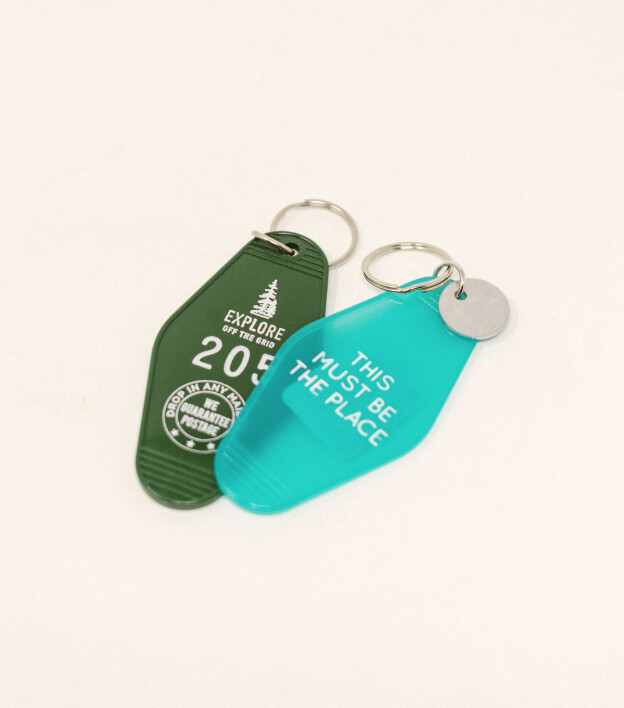 Key Tag - This Must Be The Place - Translucent Green