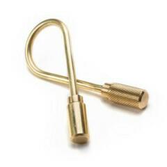 Closed Helix Keyring - Brass