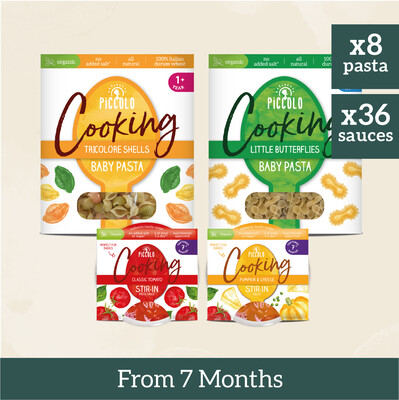 8x Baby Pastas & 36x Sauces - All Vegetarian