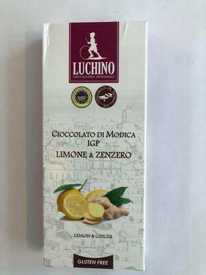 Luchino Súkkulaði Lemon & Ginger 100gr.