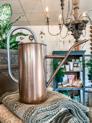 LITRE TIN WATERING CAN BRONZE 2.5L