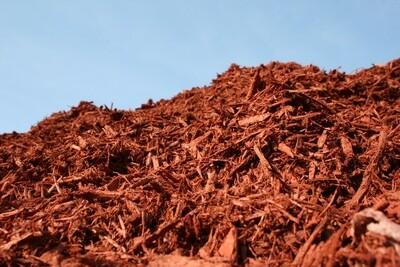 Bulk Red Enhanced Landscape Mulch by the yard