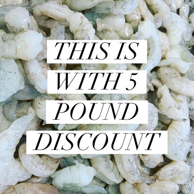 PEELED & DEVEINED MEDIUM (31/40 Count) 5 POUNDS Discount