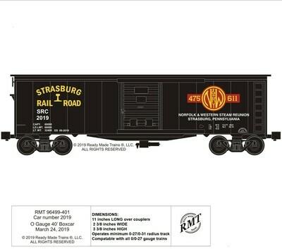 Boxcar - SRR w/611 Custom O-Gauge