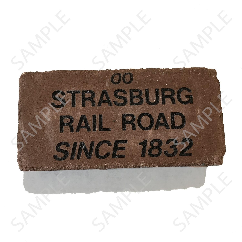 Strasburg RR Custom-Engraved Memorial Brick