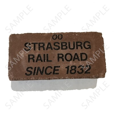Strasburg RR Custom-Engraved Memorial Brick