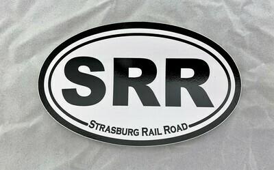 Sticker - SRR Oval B&W