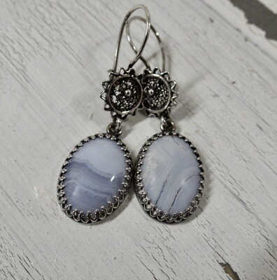 Blue Lace Agate Sterling Silver