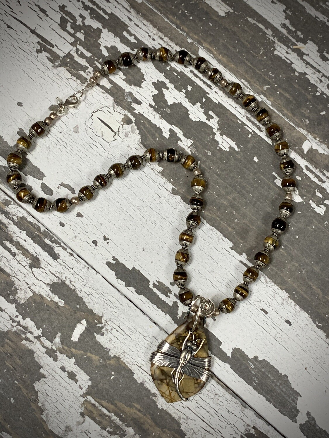SS Tiger Eye & Jasper Necklace