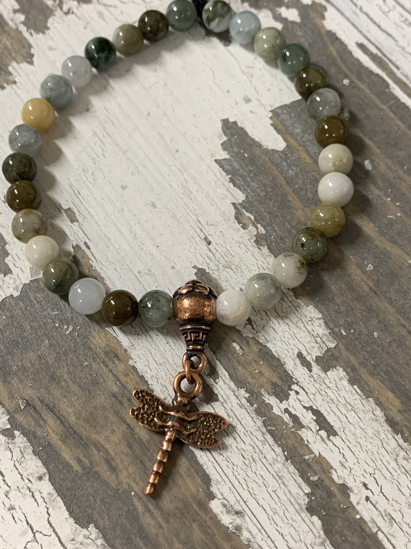 Burma Jade Dragonfly Bracelet
