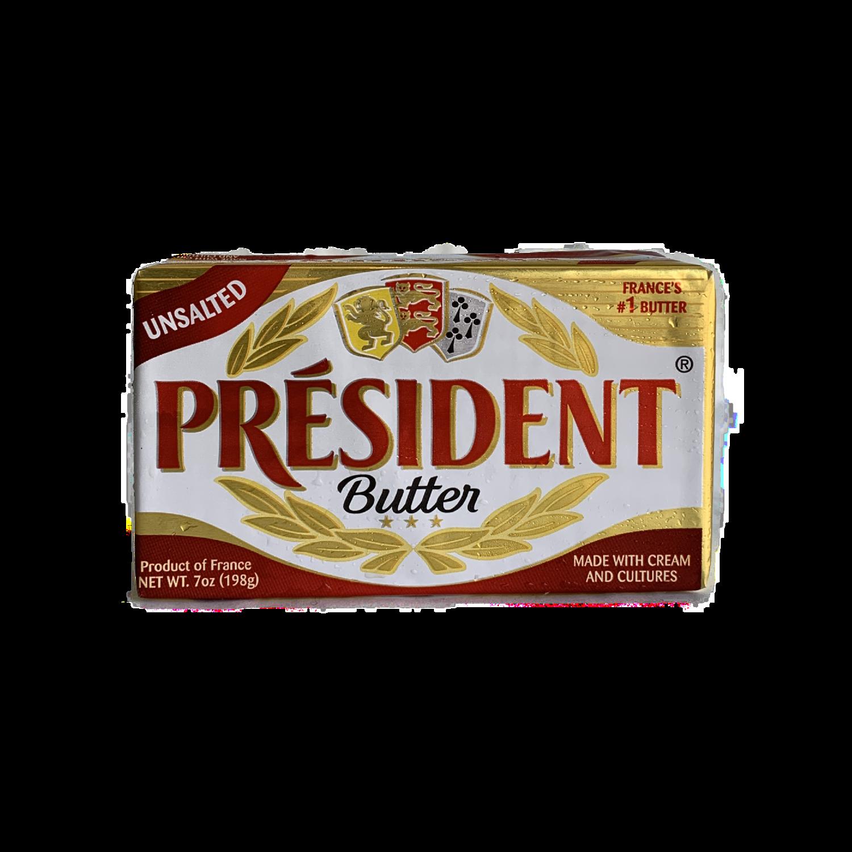 President unsalted butter 7 oz.