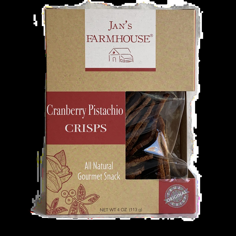 Jan's Crisps Cranberry Pistachio