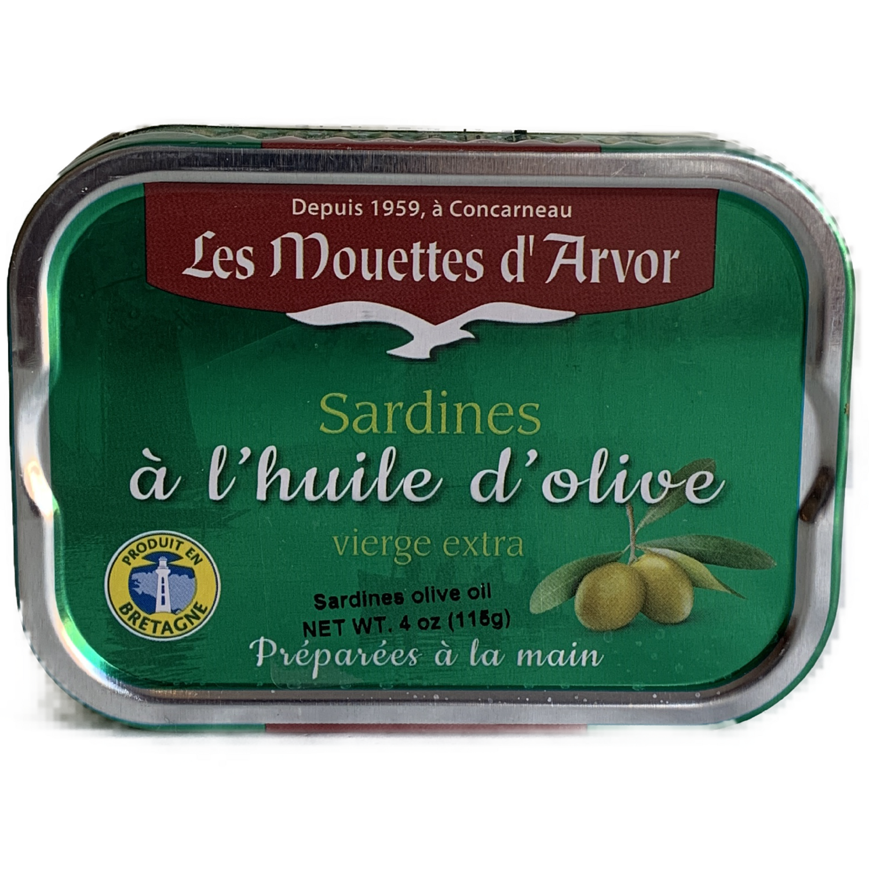 Mouettes D'Arvor whole sardines 4 oz.